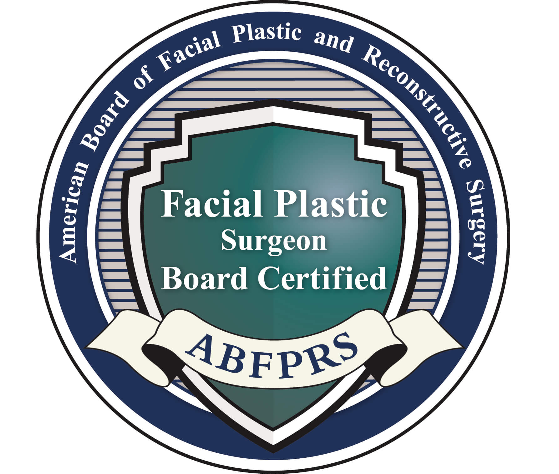 logo for the American Board of Facial Plastic and Reconstructive Surgery.